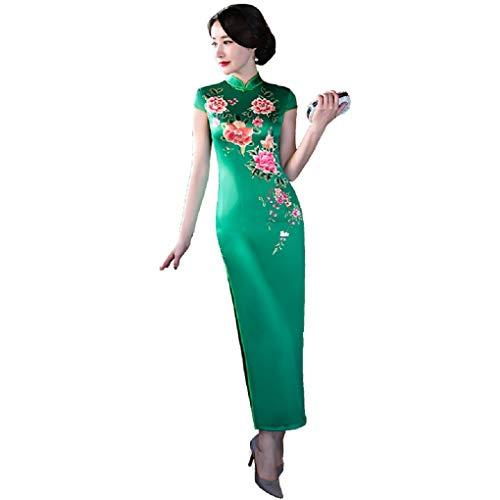 fb63c7c18e31f (上海物語)Shanghai Story 人造 シルク チャイナドレス ワンピース 中国風 チーパオ 女性 中華