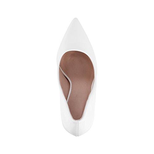Dentelle Hauts Talons Classique Weiß Femmes Escarpins Paris Chaussures Soirée 6qI6wRd