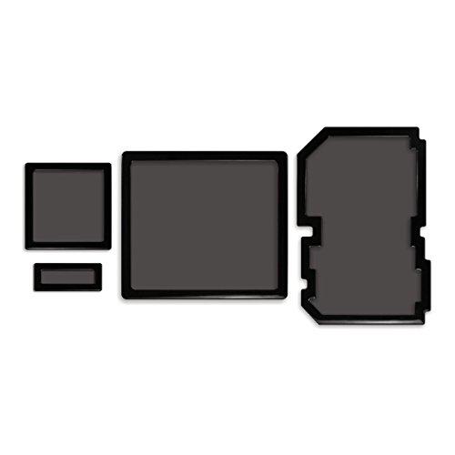 DEMCiflex Dust Filter Kit for SilverStone FT03 (4 Filters), Black Frame, Black Mesh by DEMCiflex