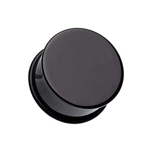 - Covet Jewelry Basic Acrylic Single Flared Ear Gauge Plug (6 GA (4mm), Black)