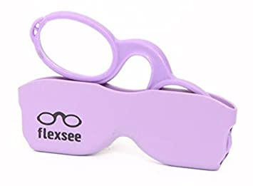 a3684393f074 Amazon.com  Flexsee Retro +2 Pince-nez Reading Glasses