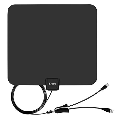 HD Digtial TV Antenna with 50-85 Miles Long Range - Detachable Signal Booster Support Full HD 1080P 4K All TVs for Indoor W/Longer Coax Cable