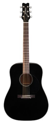 Jasmine JD39-BLK J-Series Acoustic Guitar, Black