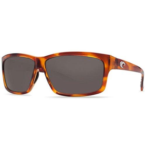 Costa Del Mar Cut Sunglasses, Honey Tortoise, Gray 580P - Cut Mar Costa Del