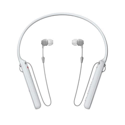 Sony - C400 Wireless Behind-Neck in Ear Headphone White (WIC400/W)