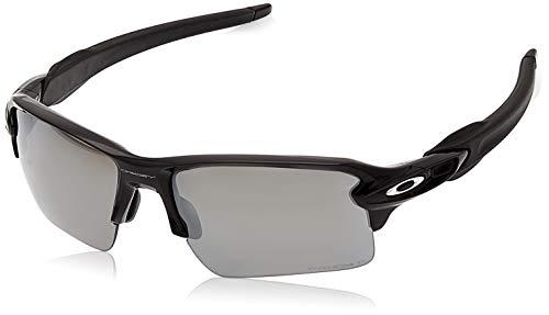 Oakley Men's OO9188 Flak 2.0 XL Rectangular Sunglasses, Polished Black/Prizm Black Polarized, 59 ()