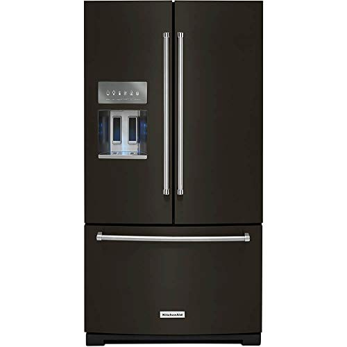 KitchenAid KRFF507HBS 26.8 Cu. Ft. Black Stainless French Door - Black Kitchenaid Refrigerator
