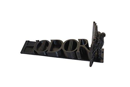 Hodor, Hold The Door Stop- 3D Printed Game of Thrones Doorstop - BLACK by R&D²