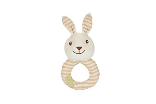 Rabbit Plush Rattle - EverEarth 16.5cm Soft Plush Rabbit Baby Rattle EE33690