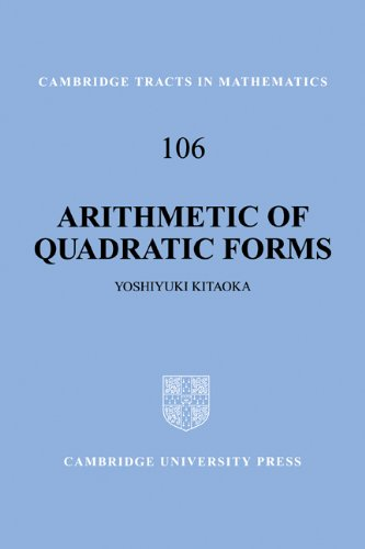 Arithmetic of Quadratic Forms (Cambridge Tracts in Mathematics)