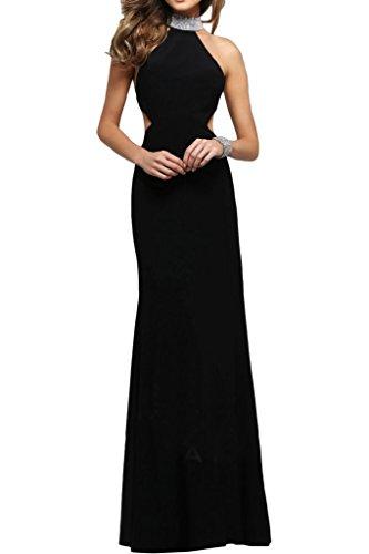 Ivydressing Steine Etui Festkleid Linie Rueckenfrei Damen Modern Abendkleid Stehkragen Schwarz Partykleid Promkleid IwqrIX4
