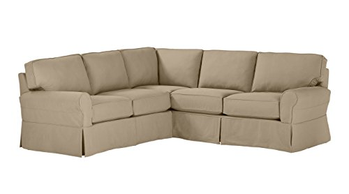 Stone & Beam Carrigan Modern Sectional Sofa Couch with Slipcover, 103