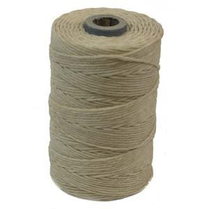 Waxed Irish Linen Crawford Cord 4 Ply 1 Spool NATURAL (Crawford Natural)