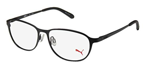 Puma 15413 Mens/Womens Flexible Hinges Genuine Contemporary TIGHT FIT Designed For Young Men & Women Optimal For Sports Eyeglasses/Spectacles (54-15-140, ()