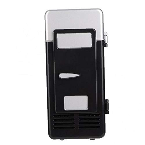 1pc Usb Mini Fridge Cooler Warmer Freezer Portable Mini Refrigerator Beverage Drink Cans for Home Office Black