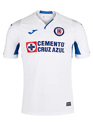 (Joma Men's Cruz Azul Away Jersey 2019 (S, White/Royal))