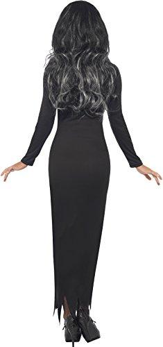 Smiffys Skeleton Tube Dress Costume, Black, Medium
