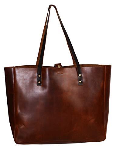 - KomalC Full Grain Buffalo Leather Tote ladies Bag Elegant Shopper Shoulder Bag sale