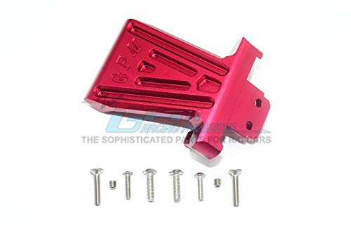 GPM Losi 1/6 Super Baja Rey 4X4 Desert Truck Upgrade Parts Aluminum Front Bumper Mount - 1Pc Set Red ()