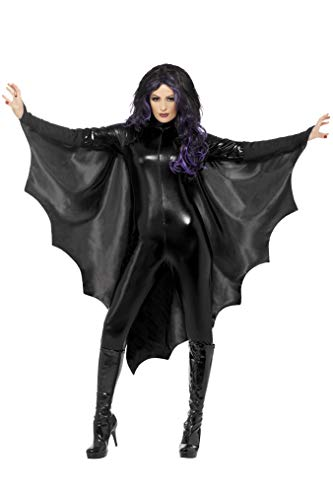 Smiffys Women's Vampire Bat Wings, Black, One Size, 23133 -