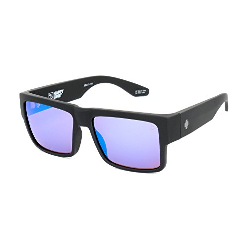 Spy Optic Cyrus Sunglasses Matte Black with Bronze Blue Spectra Lens + Spy - Spectra Sunglasses