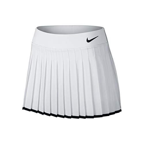 Nike Women's Victory Skirt, White Black, XL ()