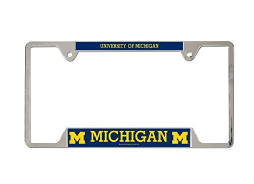 Frame License University Plate (NCAA Official University of Michigan Wolverines Metal License Plate Frame)