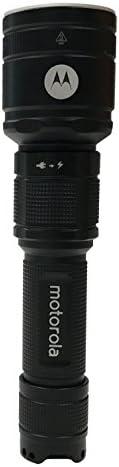 Motorola MR550 ReLED Rechargeable Flashlight with 1100 Lumens - Black