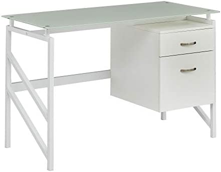 Mayline SOHO Glass Top Desk