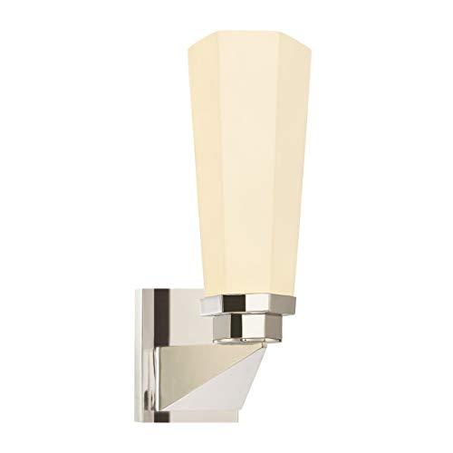 Sonneman 1845.35, Forma Glass Wall Sconce Lighting, 1 Light, 65 Total Watts, Polished Nickel ()