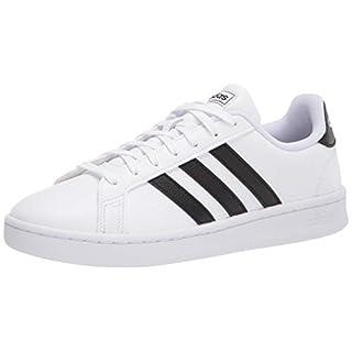 adidas womens Grand Court Sneaker, White/Black/White, 6.5 US