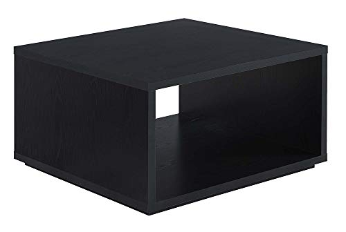 Convenience Concepts Northfield Admiral Square Coffee Table, Black (Coffee Melamine Table)