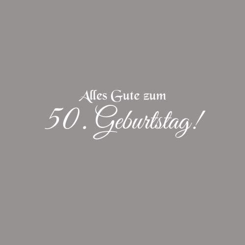 Alles Gute zum 50 Geburtstag ..........: Gstebuch Alles Gute zum 50 Geburtstag 50 Jahre Gste buch party geschenkideen deko dekoration ... freund mnner Cover Grau (German Edition)