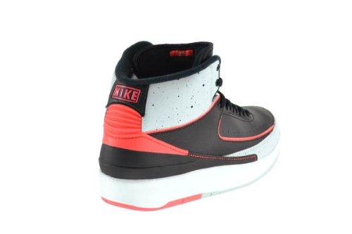 Jordan Boys Nike Air 2 Retro BG Concord Basketball Shoes - 395718 153 Black/Infrared-pure Platinum-white