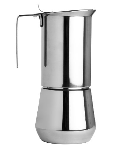 - Ilsa Stainless Steel 6 Cup Stovetop Espresso Maker