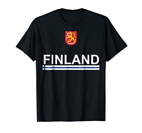 Finland Sport National Finnish Heritage T-shirt (Coat Of Arms Finnish)