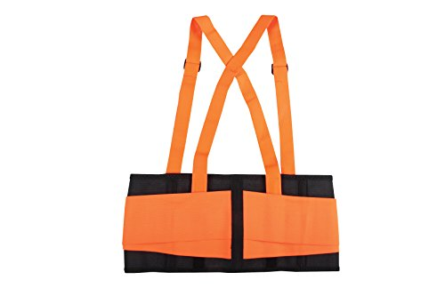 Safety Depot High Viz Elastic Back Support Belt Detachable Suspenders Anti Ride-Up (Small) by Safety Depot (Image #1)