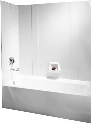 Swanstone RM-58-010 High Gloss Tub Wall Kit, White Finish