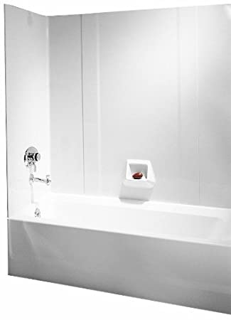 Swanstone RM 58 010 High Gloss Tub Wall Kit, White Finish