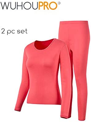 WUHOUPRO Womens Ultra Soft Thermal Underwear Long Johns with Fleece Lined