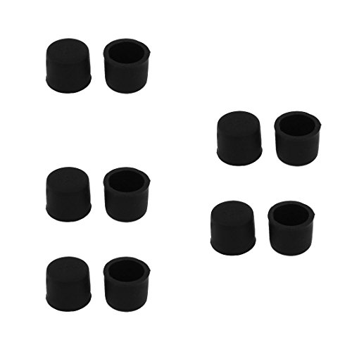 uxcell Silicone RCA Female Connector Dust Proof Cap Protector Cover 10 Pcs Black