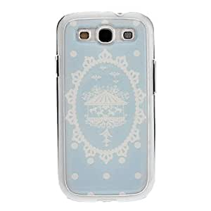 Snowflake Merry-Go-Round Drawing Pattern Neutral Stiffiness Silicone Cover for Samsung Galaxy S3 I9300