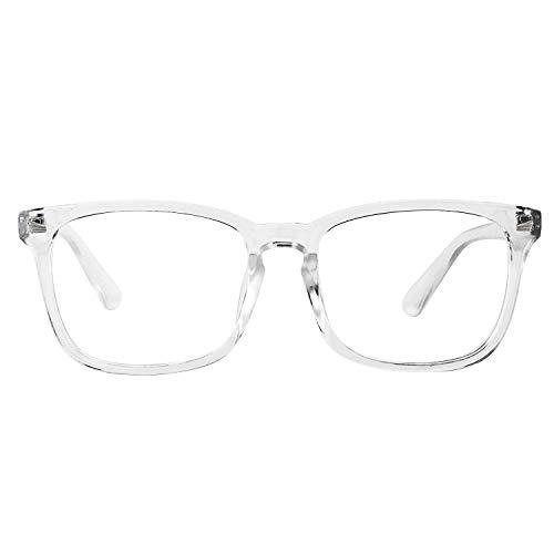WOWSUN Non Prescription Glasses for Women Men,Clear Lens Eyeglasses Fashion Nerd Optical Frames Fake Eye Glasses Clear Frame -