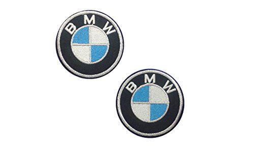 2 pieces BMW Iron On Patch Embroidered Grand Prix Motif for sale  Delivered anywhere in USA