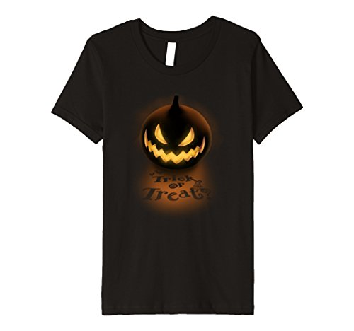 Kids Scary Pumpkin Trick Or Treat Halloween T-Shirt For Men Women 8 (Homemade Girls Witches Costumes)