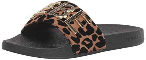 (bebe Women's Felisa Slide Sandal, Leopard, 9 Medium US )