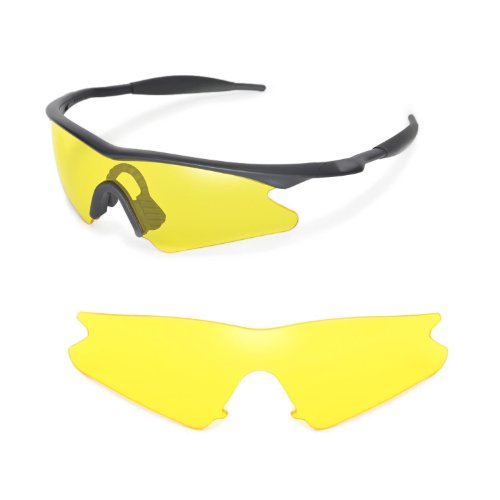 Walleva Replacement Lenses for Oakley M Frame Sweep Sunglasses - Multiple Options Available - Oakley Sunglasses Yellow Frame