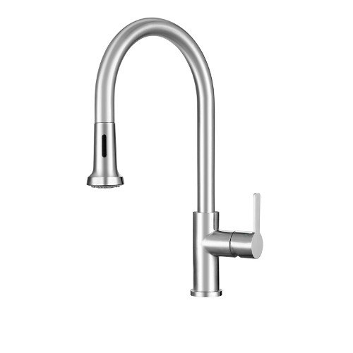 Franke Single Lever (Franke FF20650 Bernadine Single Handle Pull-Down Kitchen Faucet with Fast-in Installation System, Stainless Steel)