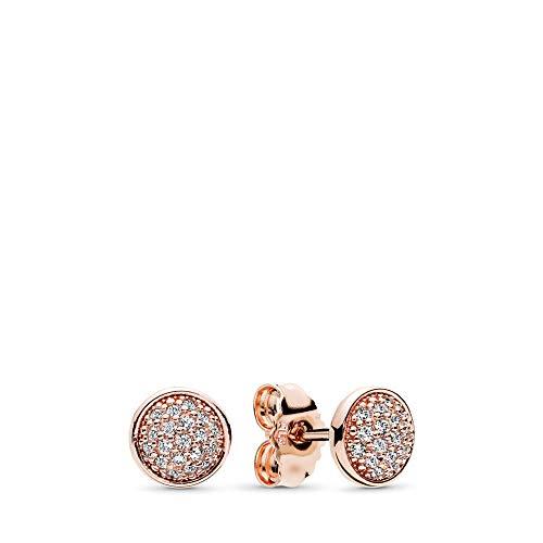 PANDORA Dazzling Droplets Stud Earrings, PANDORA Rose, Clear Cubic Zirconia, One Size