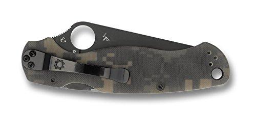 Spyderco C81GPCMOBK ParaMilitary 2 G-10 Plain Edge Knife (Camo/Black) by Spyderco (Image #1)